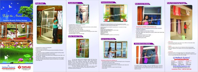 Welltech Systems, Mosquito Netting for Doors and Windows, Hyderabad, India.